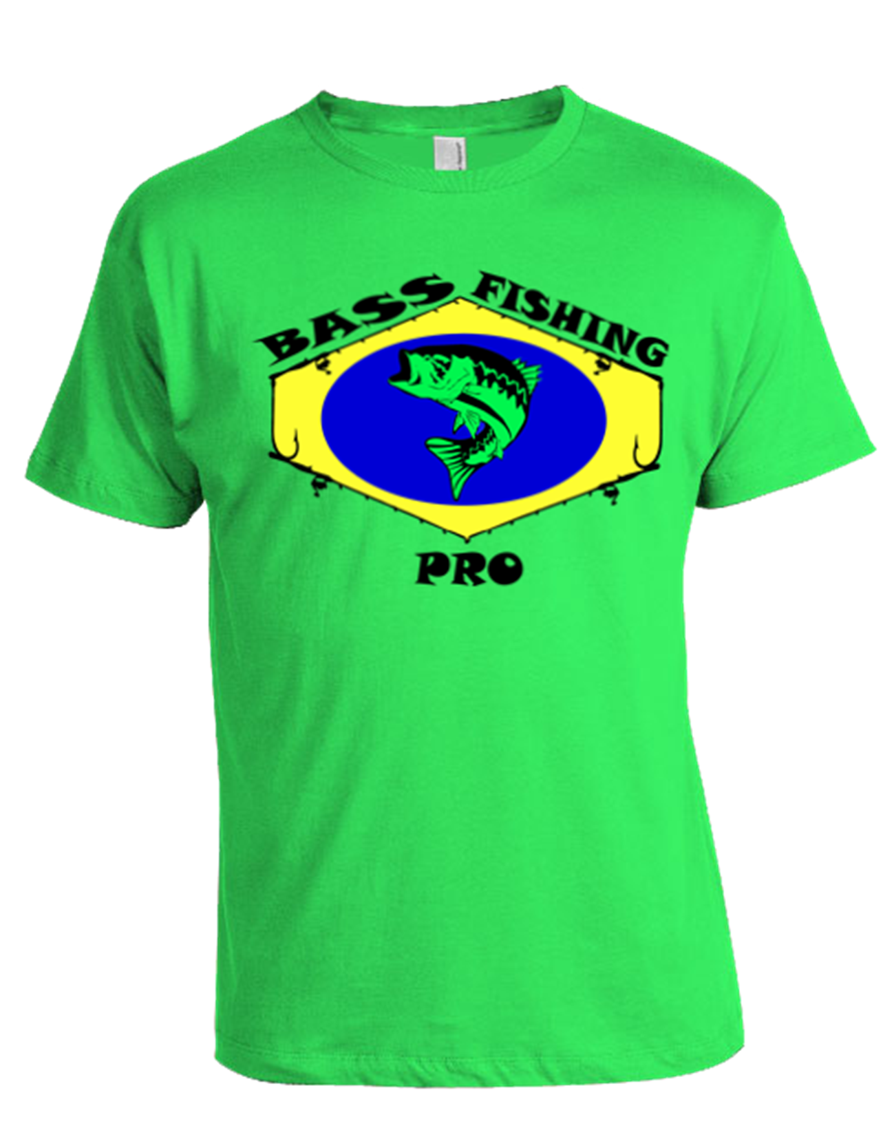 Bass Fishing Pro T Shirt Green Life House Ink